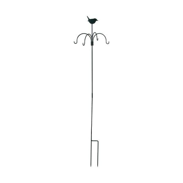 Tmavě zelené krmítko se zápichem Esschert Design, výška148cm