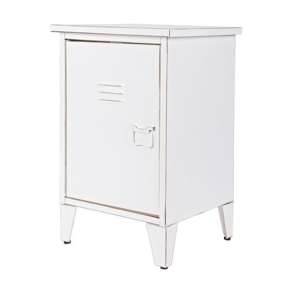 Noční stolek Max, bílý, levostranné otevírání