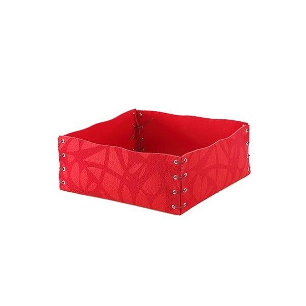 Plstěná krabička 12x6 cm, červená