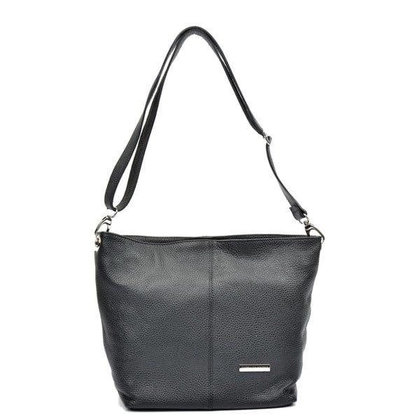 Čierna kožená kabelka Luisa Vannini Simona