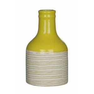 Žlutobílá keramická váza Mica Fabio, 14x8cm