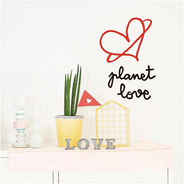 Dekorativní samolepka na zeď Planet Love