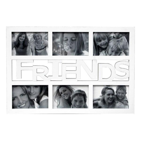 Fotorám na 6 fotek Friends, bílý