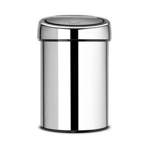 Odpadkový koš Brabantia Touch Bin Silverino, 3l