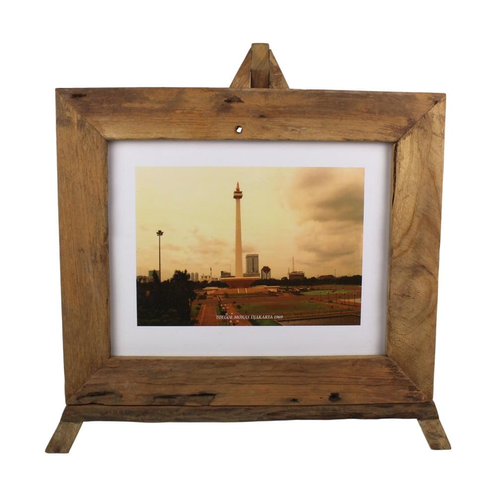 Rámeček na fotografie z teakového dřeva HSM Collection Nesia, 55 x 45 cm