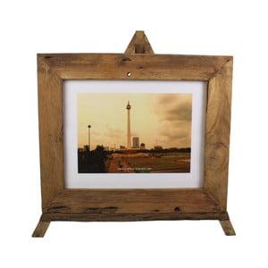 Rámeček na fotografie z teakového dřeva HSM Collection Nesia,55x45cm