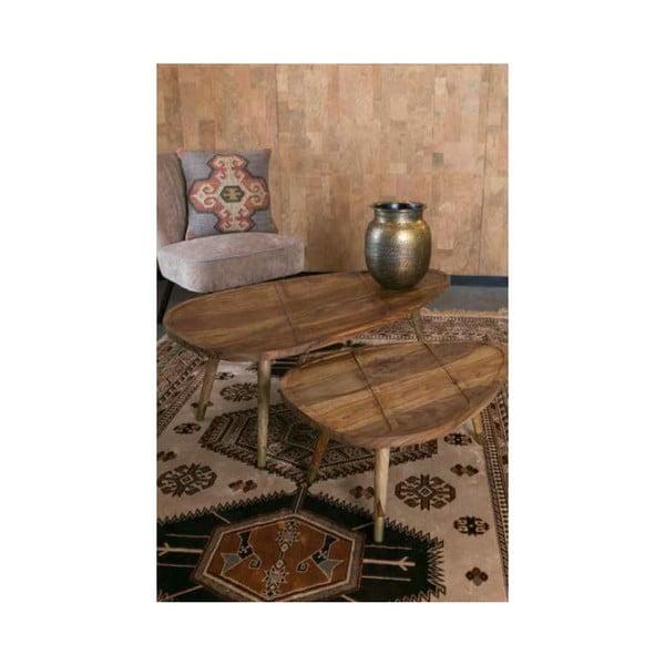 Sada 2 dřevěných stolků Dutchbone Sham