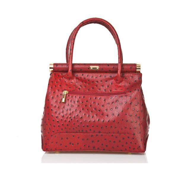 Kožená kabelka Rosalind, červená