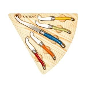 Set 5 nožů na sýr vdřevěném boxu Kasanova