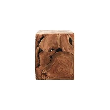 Măsuță din lemn de tec HSM collection Cube, 25 x 30 cm poza