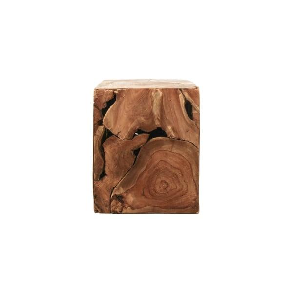 Cube teakfa dohányzóasztal, 25 x 30 cm - HSM collection