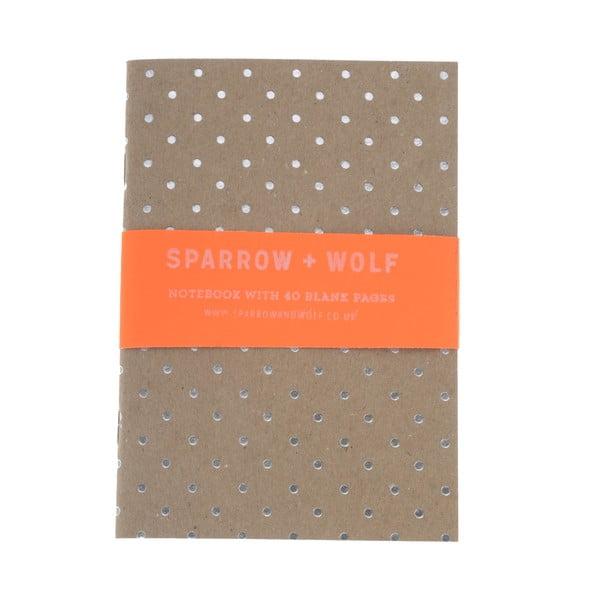 Zápisník Silver Polka Dot