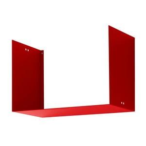 Nástěnná police Geometric Two, červená