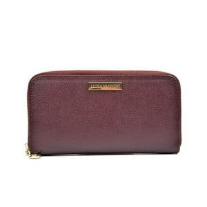 Tmavě vínová dámská kožená peněženka Luisa Vannini Grunto