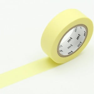 Žlutá washi páska MT Masking Tape Lemon