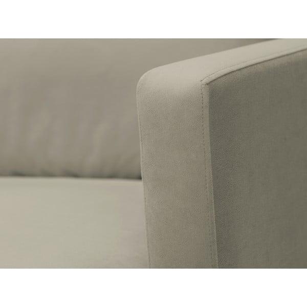 Béžová dvojmístná pohovka s podnožím v černé barvě Windsor & Co Sofas Jupiter