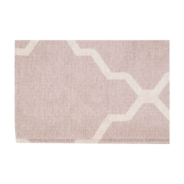 Vysoce odolný kuchyňský běhoun Webtappeti Lattice Sand, 60x220 cm