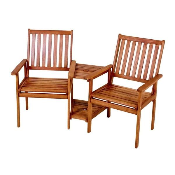 Edison kétszemélyes kerti szék, eukaliptuszfából - ADDU
