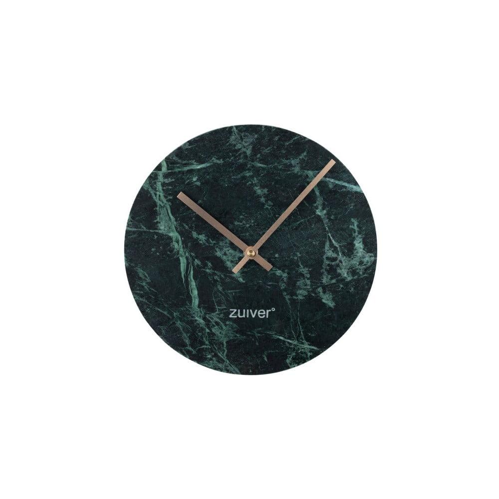 Zelené nástěnné mramorové hodiny Zuiver Marble Time Zuiver