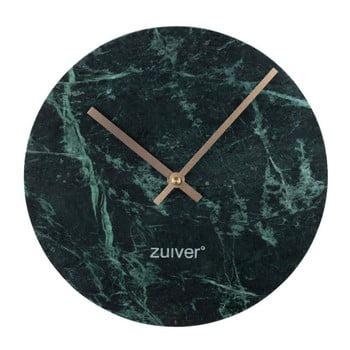 Ceas de perete din marmură Zuiver Marble Time, verde de la Zuiver