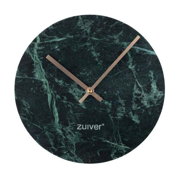 Ceas de perete din marmură Zuiver Marble Time, verde