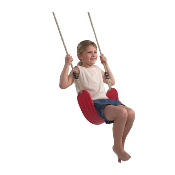 Elastický sedák s lanem, červený