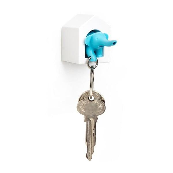 Věšák na klíče se slonem, modrá
