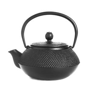 Černá litinová čajová konvice Bambum Taşev Linden, 800ml