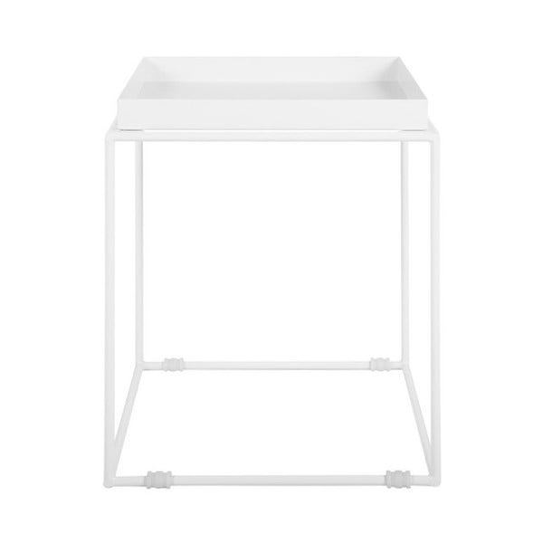 Bílý kovový odkládací stolek Monobeli Jane
