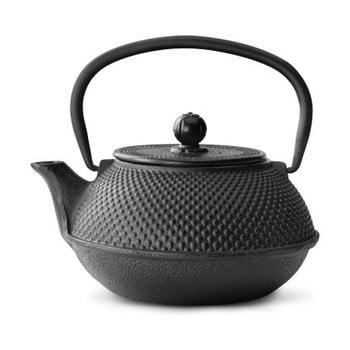 Ceainic din fontă cu infuzor Bredemeijer Jang, 0,8 l, negru