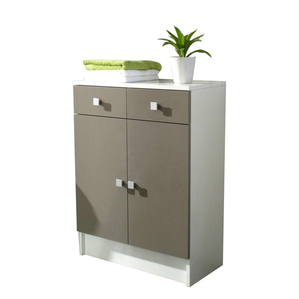 Šedohnědá koupelnová skříňka Symbiosis André, šířka 60 cm