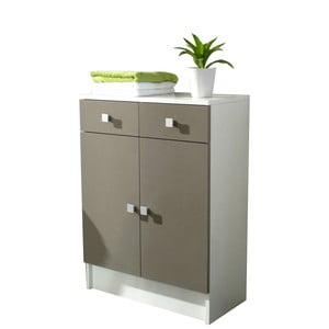 Šedohnědá koupelnová skříňka Symbiosis André,šířka60cm