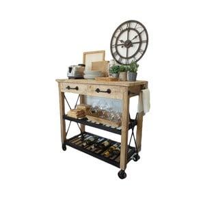 Kuchyňský stolek na kolečkách zmangového dřeva Orchidea Milano Industrial