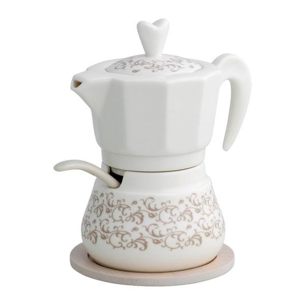 Cukornička s nádobkou na mlieko s bambusovým detailom Brandani Riccioli di Fata