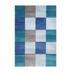 Modrý dětský koberec Happy Rugs Patchwork, 120x180cm