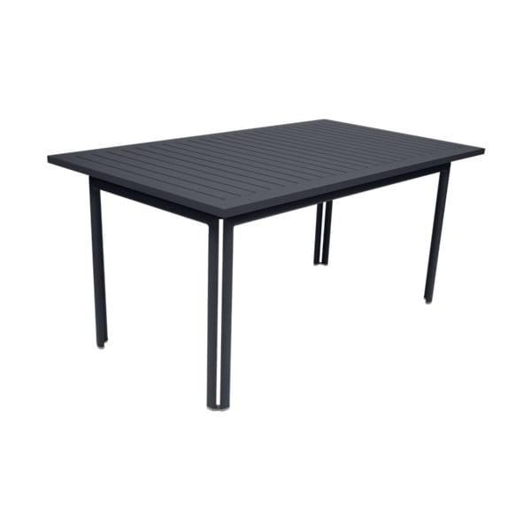 Antracitový záhradný kovový jedálenský stôl Fermob Costa, 160×80 cm