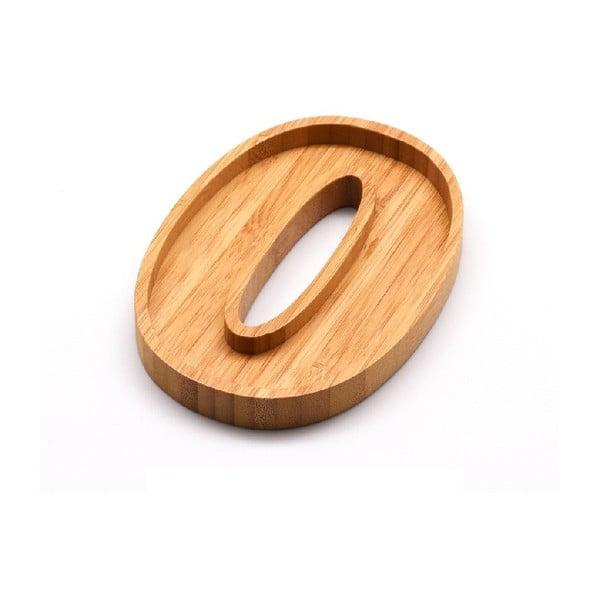 Numero Zero szervírozó bambusz kistányér - Bambum