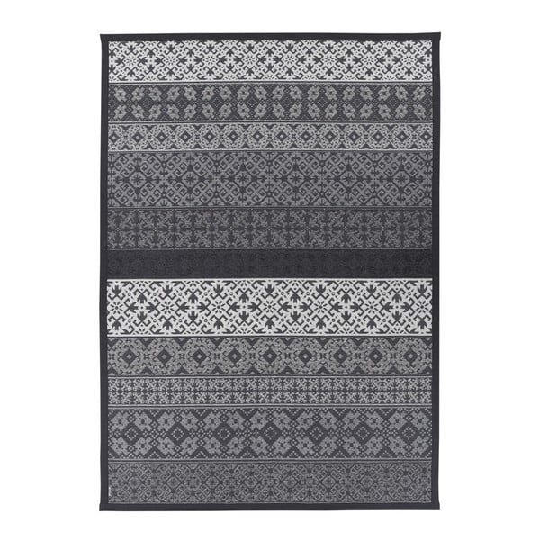 Šedý vzorovaný oboustranný koberec Narma Tidriku, 160x230cm