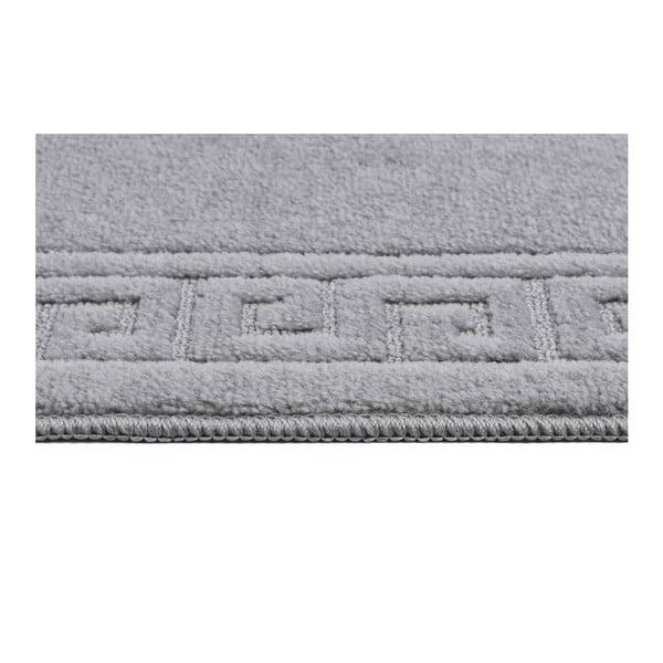 Sada 3 šedých koupelnových předložek a toaletního potahu Confetti Ethnic,40x50cm