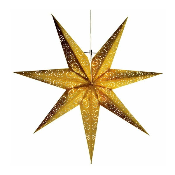 Závěsná svítící hvězda Antique Gold, 80 cm
