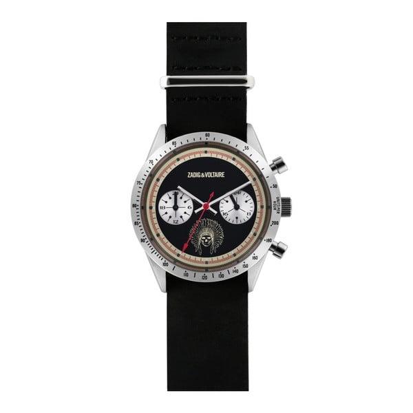 Pánské černé hodinky s motivem lebky Zadig & Voltaire Bonitto