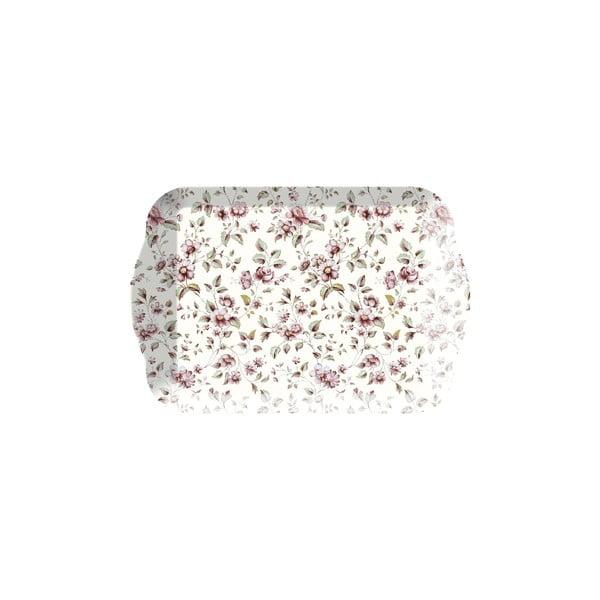 Květovaný podnos Creative Tops Floral, 21x14cm