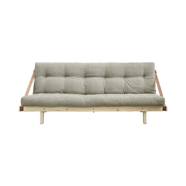 Sofa rozkładana z lnianym obiciem Karup Design Jump Natural/Linen