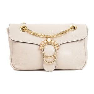 Béžová kožená kabelka Sofia Cardoni Princesa