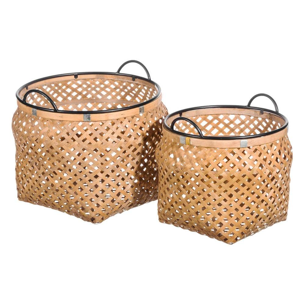 Sada 2 úložných košů z bambusu Tropicho