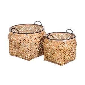 Set 2 coșuri depozitare din bambus Tropicho