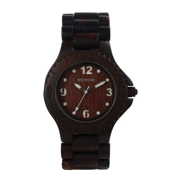 Dřevěné hodinky Kale Chocolate and White