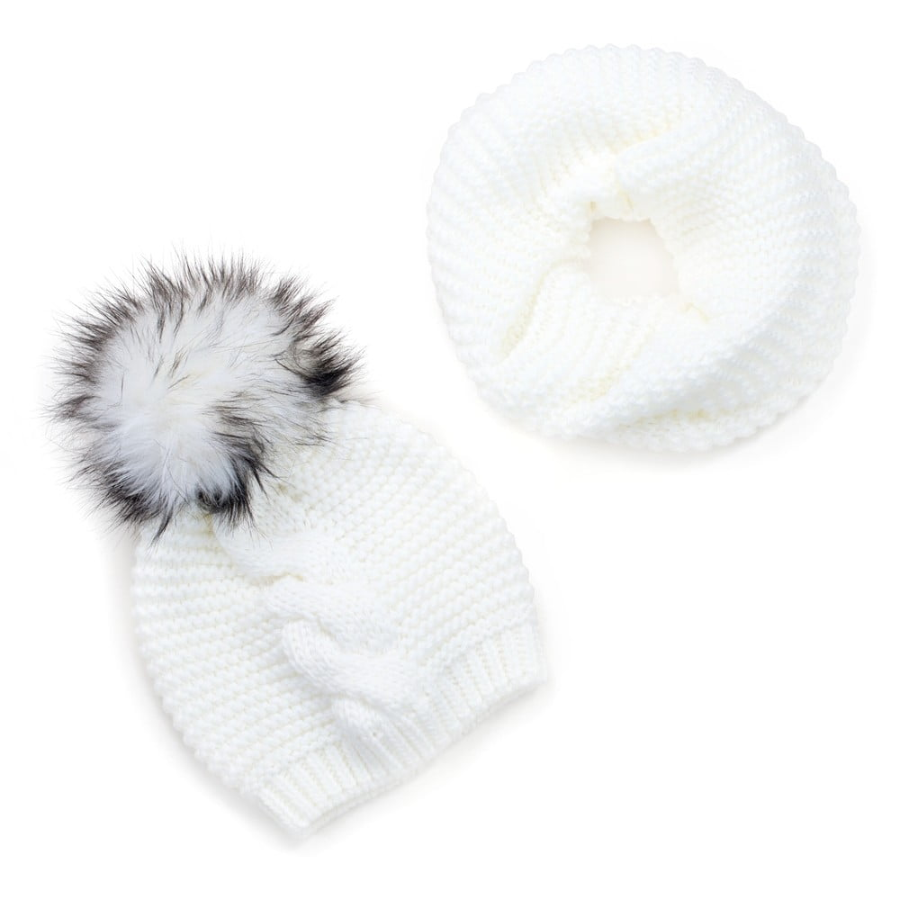 Sada bílé dámské čepice a šály Art of Polo Laila  a661393fa0