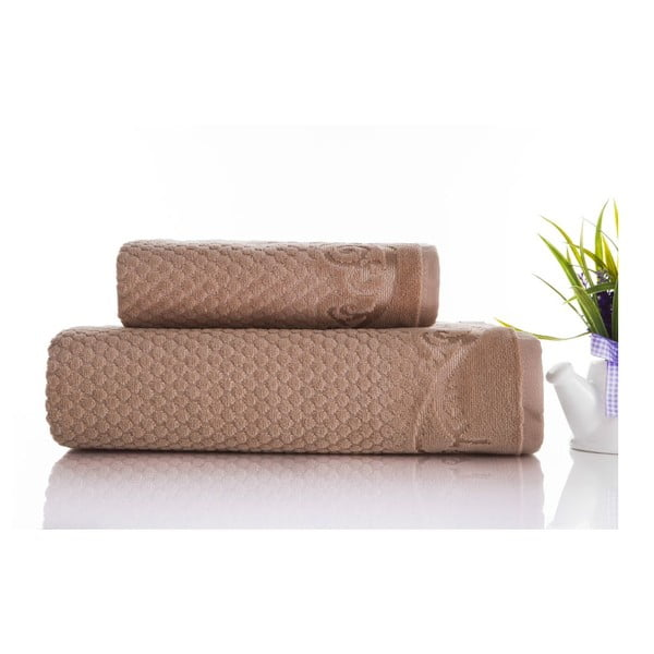Sada 2ks ručníků Acustic Mink, 50x90 cm a 70x140 cm