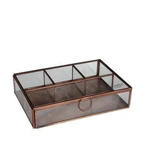 Úložný skleněný box Grazia, 22x15 cm